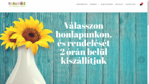 Babaház Virágstúdió reszponzív webshop
