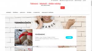 Fehérnemű, lakástextil és rövidáru webshop