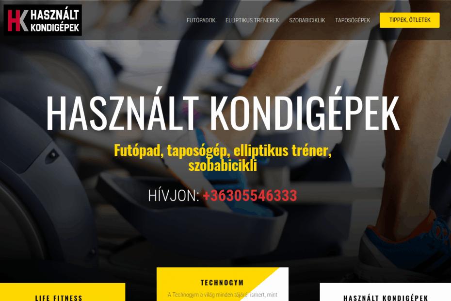 Használt kondigépeket forgalmazó honlap