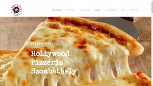 Hollywood Pizzéria reszponzív honlap