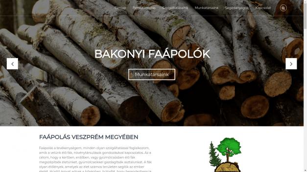 Bakonyi Faápolók reszponzív honlap